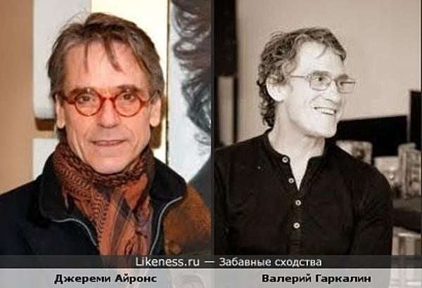 Джереми Айронс похож на Валерия Гаркалина