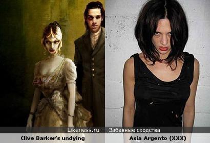 Девушка из игры Clive Barker's undying похожа на актрису Азию Аргенто