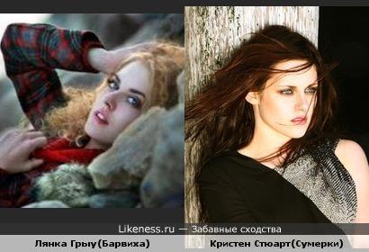 Кристен Стюарт и Лянка Грыу похожи