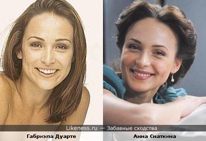 Анна Снаткина и Габриэла Дуарте похожи