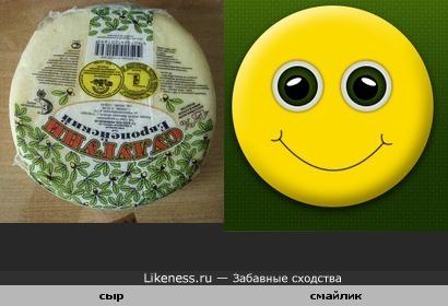 Упаковка сыра похожа на смайлик