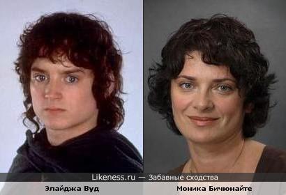 Литовская актриса Моника Бичюнайте и Элайджа Вуд похожи