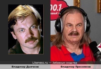 Актер Владимир Дьячков похож на Владимира Преснякова-старшего