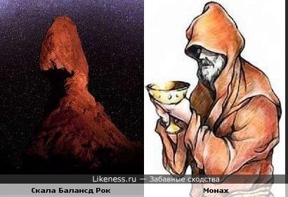 Скала Балансд Рок напомнила мне монаха