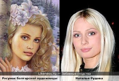 Девушка с рисунка похожа на Наталью Рудову