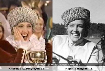 Участница Мисс Вселенная 1996 г. от России Ильмира Шамсутдинова похожа на Марину Ладынину