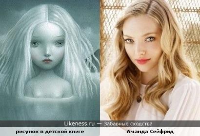 Девочка с иллюстрации Nicoletta Ceccoli показалась мне похожей на Аманду Сейфрид