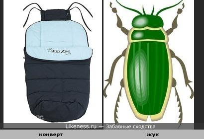 Конверт для малыша похож на жука
