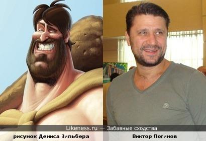 На рисунке израильского художника Дениса Зильбера изображен Гена Букин?