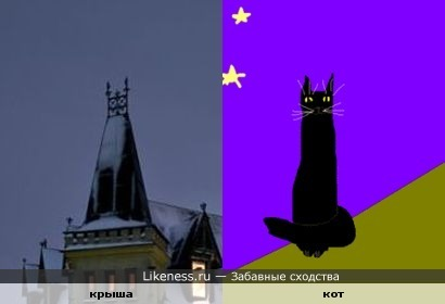 Крыша напомнила кота