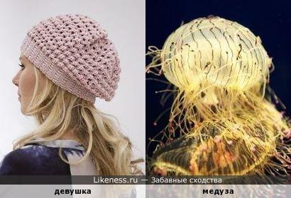 Медуза напомнила девушку в берете