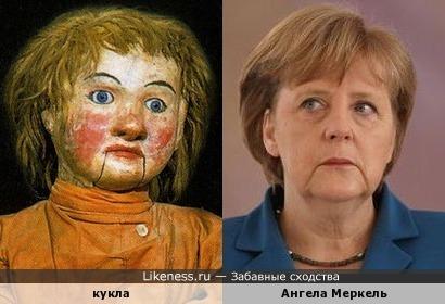 Ангела Меркель похожа на марионетку (особенно рот)