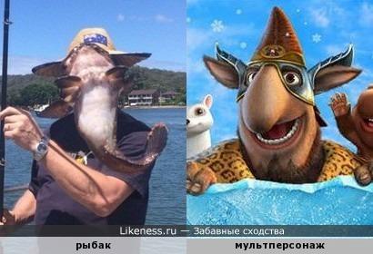 """Рыбак напомнил героя из мультфильма """"Снежная королева"""""""