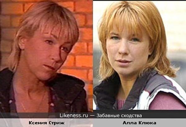 Ксения Стриж и Алла Клюка похожи