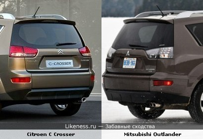 Citroen C Crosser vs Mitsubishi Outlander