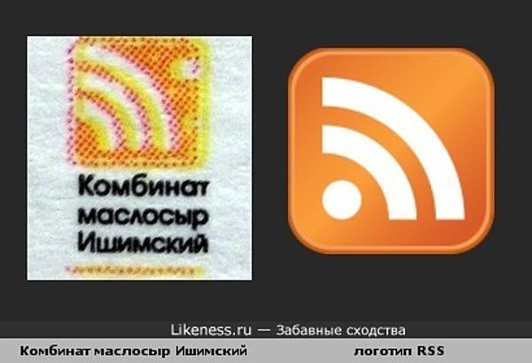 "Логотип комбината маслосыр ""Ишимский"" похож на логотип RSS"