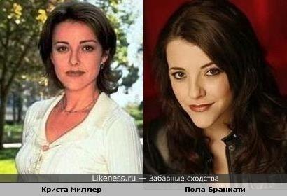 Криста Миллер и Пола Бранкати похожи