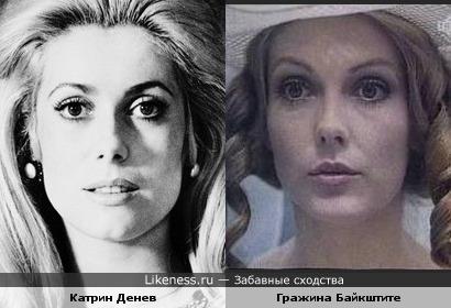 Катрин Денев и Гражина Байкштите