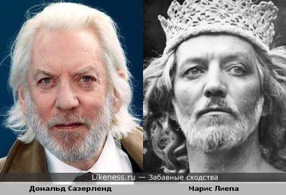 Дональд Сазерленд и Марис Лиепа