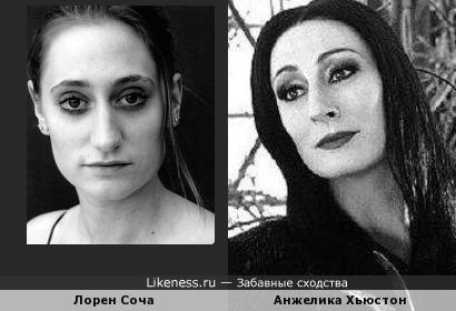 Лорен Соча и Анжелика Хьюстон