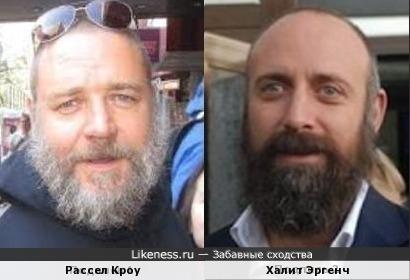 Рассел Кроу и Халит Эргенч