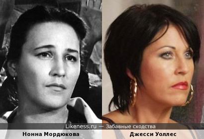 Нонна Мордюкова и Джесси Уоллес