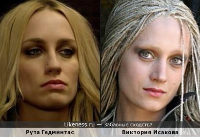 Рута Гедминтас и Виктория Исакова