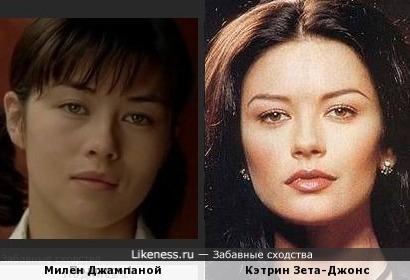 Милен Джампаной и Кэтрин Зета-Джонс