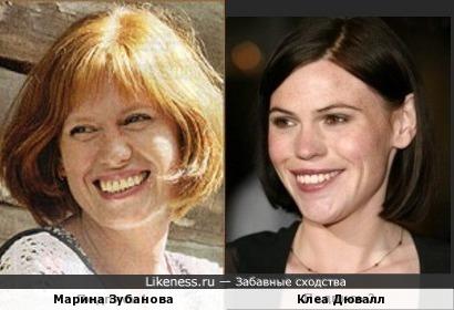 Марина Зубанова и Клеа Дювалл