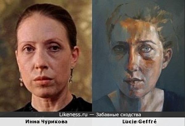 Инна Чурикова на портрете Lucie Geffré