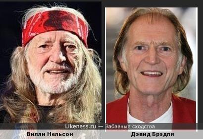 Вилли Нельсон и Дэвид Брэдли
