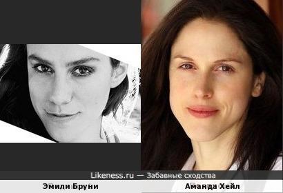 Эмили Бруни и Аманда Хейл