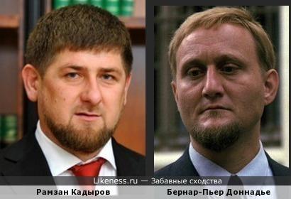 Рамзан Кадыров и Бернар-Пьер Доннадье