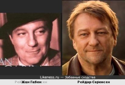 Жан Габен и Рейдар Серенсен