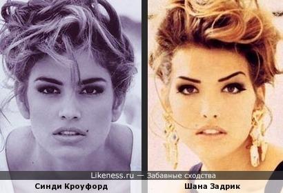 Синди Кроуфорд и Шана Задрик