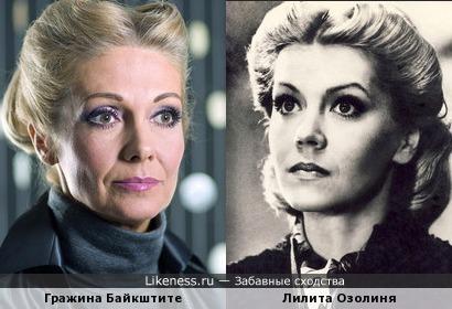 Гражина Байкштите и Лилита Озолиня