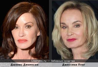 Дженис Дикинсон и Джессика Лэнг