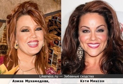 Азиза Мухамедова и Кэти Миксон