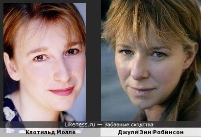 Клотильд Молле и Джули Энн Робинсон