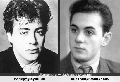 Роберт Дауни мл. и Анатолий Равикович