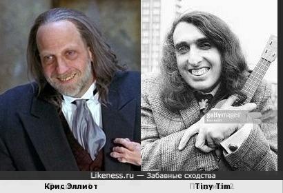 Крис Эллиот и Tiny Tim