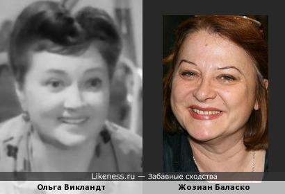 Ольга Викландт и Жозиан Баласко
