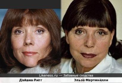 Дайана Ригг и Эльза Мартинелли