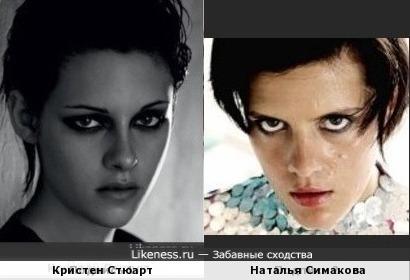 Кристен Стюарт и Наталья Симакова