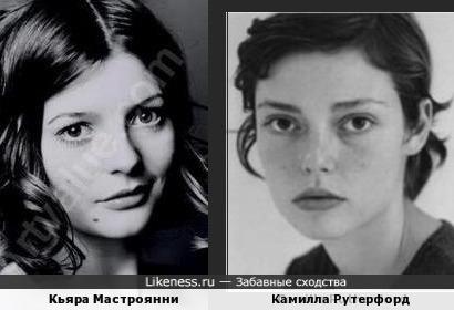 Кьяра Мастроянни и Камилла Рутерфорд