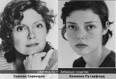 Сьюзен Сарандон и Камилла Рутерфорд