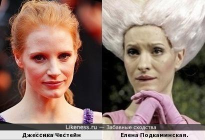 Джессика Честейн и Елена Подкаминская.
