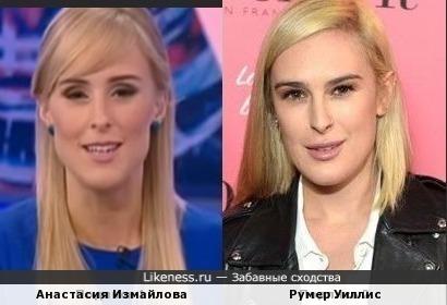 Анастасия Измайлова и Румер Уиллис