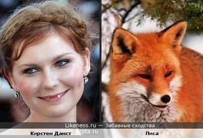 Кирстен Данст на этой фотографии напоминает мне лисичку