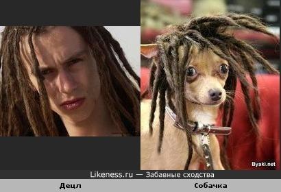 У них похожие прически)))